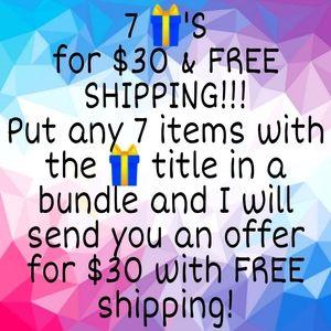 🎁🎁🎁🎁🎁🎁🎁 Bundle sale w/ free shipping!
